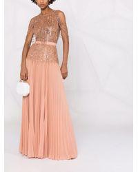 Elisabetta Franchi バックレス イブニングドレス Pink