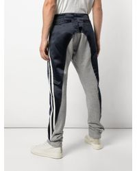 Pantaloni sportivi bicolori di Greg Lauren in Black da Uomo