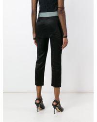 Haider Ackermann Black Grosgrain Waistband Trousers