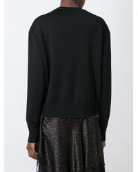 Givenchy Black Zip Detail Sweater