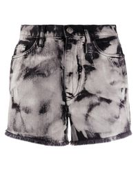 Pinko Multicolor Shorts mit Bleached-Effekt