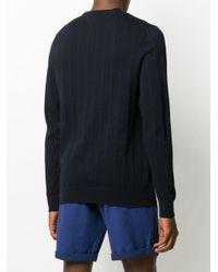 メンズ Tommy Hilfiger ヘリンボーン セーター Blue