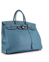 Сумка-тоут Birkin 40 Pre-owned Hermès, цвет: Blue