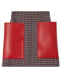 Burberry チェック ミニスカート Red