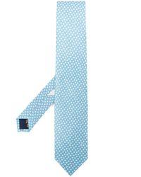 Cravate à motif animalier Ferragamo pour homme en coloris Blue