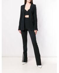 David Koma Black Contrast Sequin Side Trousers