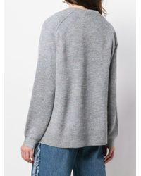 Acne Gray Relaxed Fit Sweater