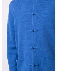 メンズ Shanghai Tang ダブルポケット カーディガン Blue