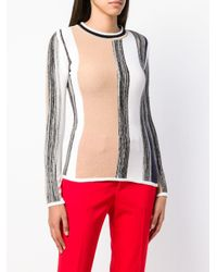 Sportmax Red Striped Sweater