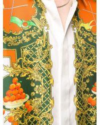 メンズ CASABLANCA Les Orange シルクシャツ Multicolor