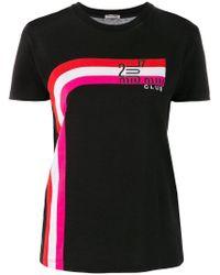 Miu Miu Black Logo T-shirt