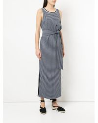 Tu Es Mon Tresor - Blue Tied Gingham Maxi Dress - Lyst
