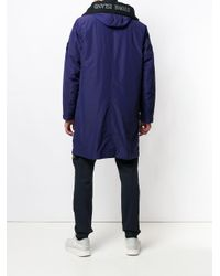 Stone Island Purple Oversized Parka Coat for men