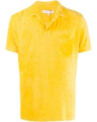 メンズ Orlebar Brown オープンカラー Tシャツ Yellow