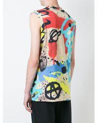 KTZ Multicolor Spray Paint Print Tank Top for men