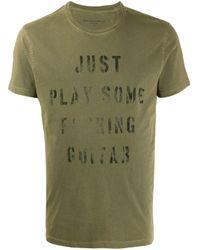 T-shirt à slogan imprimé John Varvatos pour homme en coloris Green