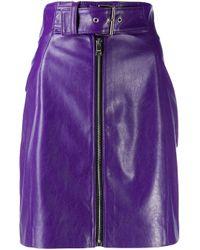 Minigonna a vita alta di MSGM in Purple