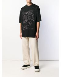 メンズ OAMC プリント Tシャツ Black