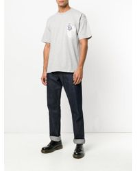 Golden Goose Deluxe Brand Gray Logo Patch T-shirt for men