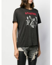 R13 ロゴプリント Tシャツ Black