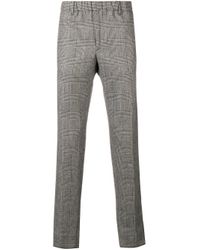 Pantalon slim à motif Prince de Galles Incotex pour homme en coloris Black