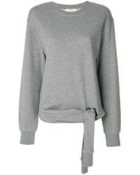 Dorothee Schumacher - Gray Tie Detail Sweatshirt - Lyst