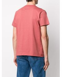 Maison Kitsuné Pink T-shirt Palais for men