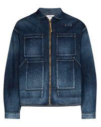 Visvim Blue Enfield Denim Hunting Jacket for men