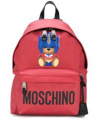 Moschino Red Zaino Con Logo