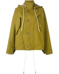 Marni - Green Oversized Hooded Jacket - Lyst