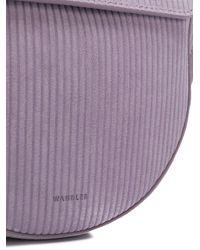 Wandler Purple Mini Hortensia Corduroy Bag