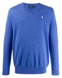 メンズ Polo Ralph Lauren Vネック セーター Blue