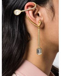 Bijou d'oreille à ornements en cristal Fenty en coloris Metallic