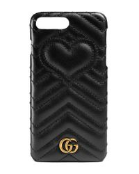 Gucci - Black Gg Marmont Iphone 7 Plus Case - Lyst