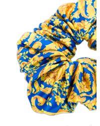 Elastico per capelli con stampa barocca di Versace in Blue