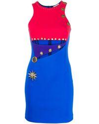 Fausto Puglisi カラーブロック ドレス Blue