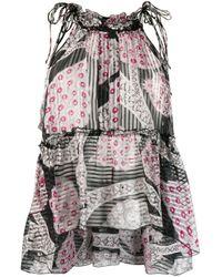 Isabel Marant ノースリーブ フローラル ドレス Multicolor