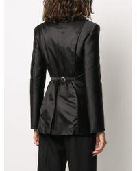 Lanvin Black Satin Two-tone Blazer