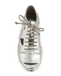 Marsèll Metallic Cut Out Lace-up Shoes