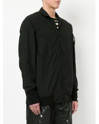 Julius - Black Zipped Bomber Jacket for Men - Lyst