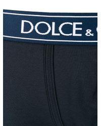 メンズ Dolce & Gabbana ロゴ ボクサーパンツ Blue
