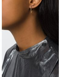 Isabel Marant - Metallic Horn And Hand Charm Earrings - Lyst