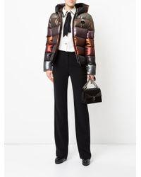 Fendi Multicolor Glittery Hooded Puffer Jacket