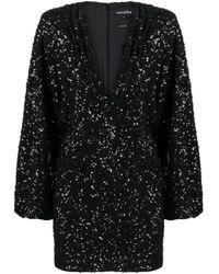 retroféte Black Aubrielle Sequin-embellished Mini Dress