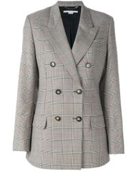 Stella McCartney Gray Nicola Check Jacket