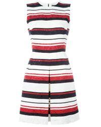 Dolce & Gabbana - Blue Striped Brocade Dress - Lyst