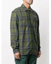 Pleasures Green Widow Heavyweight Flannel Shirt for men