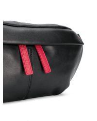 Orciani Gürteltasche mit kontrastfarbigem Reißverschluss in Black für Herren