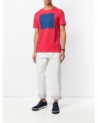 MICHAEL Michael Kors Red Colour-block Logo Print T-shirt for men