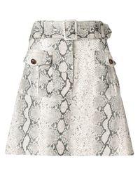 Zimmermann Multicolor Corsage Safari Mini Skirt